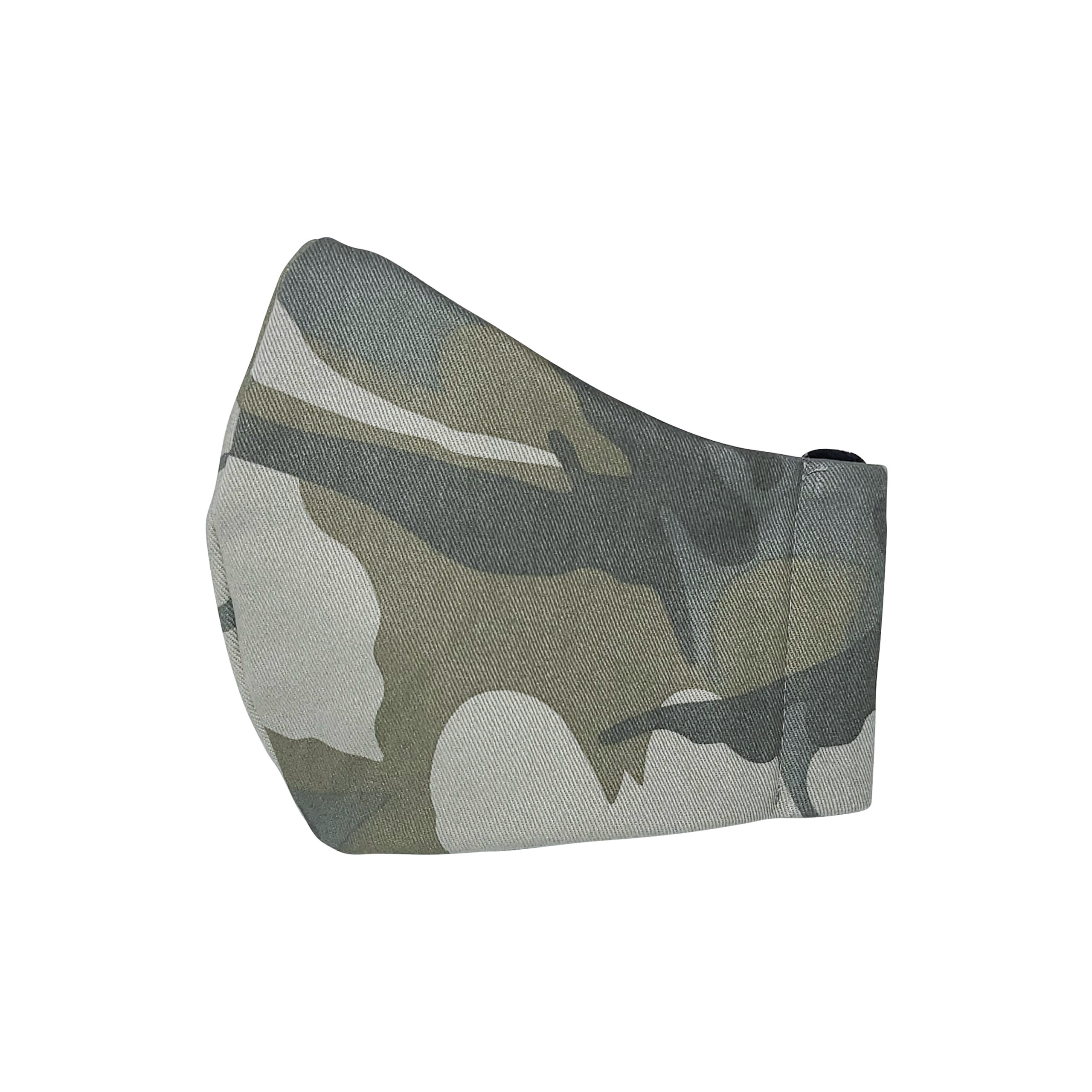 Camouflage Adjustable Face Mask Bandana for Outdoors, Dust, Festival, Outdoors, Sports; Three Layers Sustainable Fabric & Unisex Style